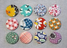 Hey, I found this really awesome Etsy listing at https://www.etsy.com/listing/253316157/fabric-button-magnets-set-of-12-feedsack