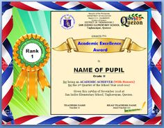 Certificate Of Excellence for Students Beautiful Procedure On Ranking Pupils Excellence Award Certificate & token Templates Deped Lp S Perfect Attendance Certificate, Certificate Layout, Certificate Background, Certificate Design Template, Award Template, Certificate Of Achievement, Award Certificates, Certificate Border, Coops