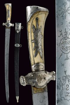 A silver mounted hunting hanger,   provenance:France dating: late 18th Century .