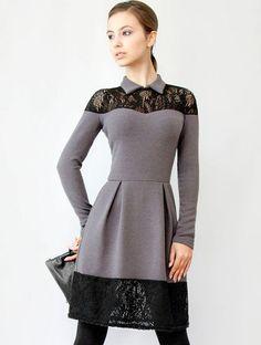 Стильное теплое платье из ангоры, фото 1