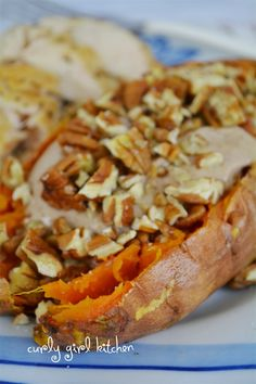 Curly Girl Kitchen - Baked Sweet Potatoes With Spiced Yogurt and Pecans