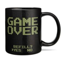 These Heat Change Mugs From ThinkGeek Have a Retro Video Game Theme #geek #gifts trendhunter.com