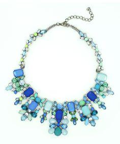 Eye Candy LA Blue & Aqua Sky Statement Necklace | zulily