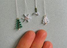 miniature christmas paper decorationsornaments - Miniature Christmas Tree Decorations