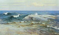 PaintingDb view of Merimaisema by Järnefelt, Eero. European Paintings, Sea Art, Art History, Scandinavian, National Parks, Landscape, Portrait, Illustration, Pictures