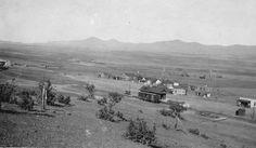 Railroad depot and town, Dewey, Arizona, C.1920 ck