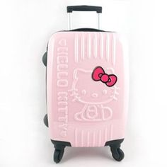 Hello Kitty Embossed Shell Luggage