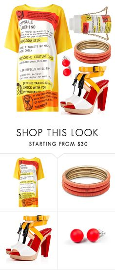 """""""#2 multicolor - capsule writing"""" by genovefa1567 ❤ liked on Polyvore featuring Moschino, Design Lab, Christian Louboutin and Hring eftir hring"""