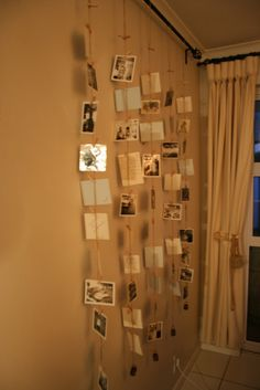 Picture Wall - 1950's family photographs #decor #picture wall