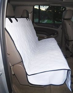 Plush Paws Pet Seat Cover with Seat Anchors  for Cars Trucks Suvs White Bonus Pair of Best Harness  Seat Belt  Waterproof Hammock Side Flaps Nonslip Silicone Backing >>> More info could be found at the image url. This is an Amazon Affiliate links.