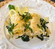 Recipe Box, Lemon Ricotta Lasagna Rolls with Spinach, Fennel & Basil | The Painted Apron