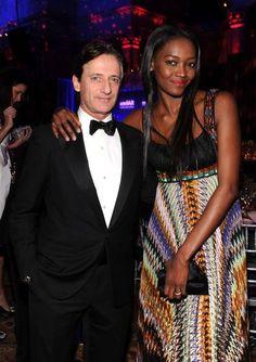 Nigerian super model Oluchi Onweagba Orlandi with husband Luca.