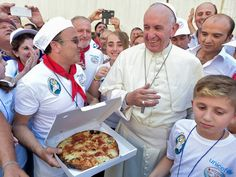 Pope Francis celebrated the canonization of the Nobel Peace Prize-winning nun on Sunday by inviting 1,500 homeless people from around Italy to lunch in the Vatican after the ceremony. According to the Vatican Insider, three wood-fired ovens were set up outside to churn out Neapolitan pizza.