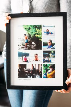 Photo frame and collage made by Pinhole Press. #PinholePress AD