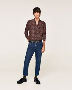 ZARA - MAN - FLORAL PRINT SHIRT Floral Print Shirt, Floral Prints, Asos Fashion, Zara Man, Shirt Sale, Printed Shirts, Mom Jeans, Stylish, Pants