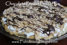 Chocolate Peanut Butter pie… it does not get much better than this! This pie is to die for and you can make it in only 30 minutes!   http://fabulesslyfrugal.com/2013/01/chocolate-peanut-butter-pie-recipe.html