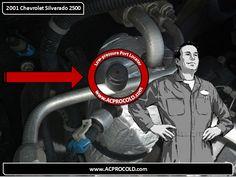 2001 Chevrolet Silverado 2500 - Low Side Port for A/C Recharge #acprocold #acpro #r134a #refrigerant - www.acprocold.com
