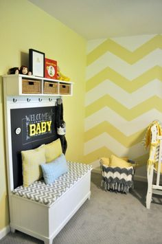 Yellow Chevron Walls