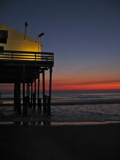 North Carolina beaches are the BEST!!!---Kitty Hawk Pier at Sunrise  8x10  fine art by brandMOJOimages, $30.00