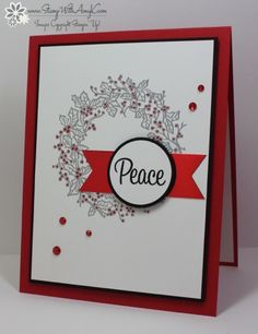 Stampin' Up! Peaceful Wreath for The Paper Players | Stamp With Amy K