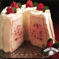 Strawberry Tunnel Cream Cake from Eagle Brand®