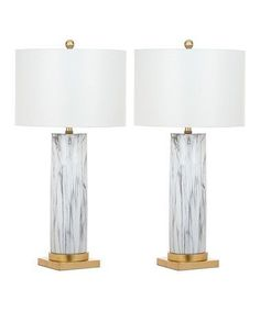 Look what I found on #zulily! Sonia Marble Table Lamp - Set of Two #zulilyfinds