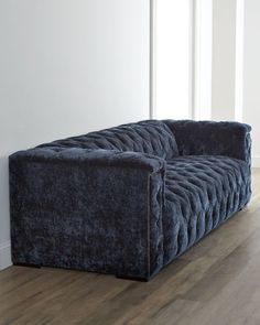 Blue Tufted Ottoman It Is Gorgeous Midnight Blue