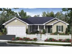 Traditional House Plan with 1200 Square Feet and 3 Bedrooms(s) from Dream Home Source | House Plan Code DHSW67707