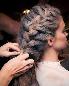 side braid hairstyle for thick hair Braided Hairstyle For Thick Hair