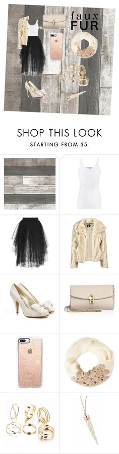 """Faux Fur"" by kylie-soccergrrrl ❤ liked on Polyvore featuring Vince, Elie Saab, Boohoo, Dolce&Gabbana, Casetify and Betsey Johnson"