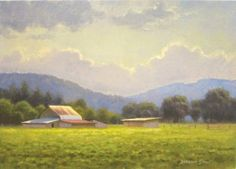 Farm in Boone 8x10 acrylic en plein air