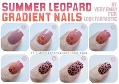 Very Emily - colorful leopards print nails tutorial