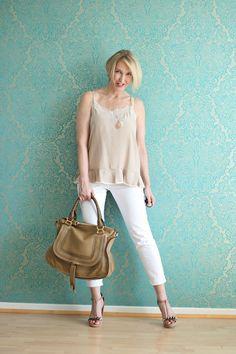 A fashion blog for women over 40 and mature women http://glamupyourlifestyle.blogspot.de/  Top + Shoes: Dorothee Schumacher Pants: NYDJ Bag: Chloé Marcie