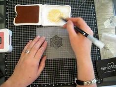 Embossing on vellum creating a stained glass look...definately going to try this!!