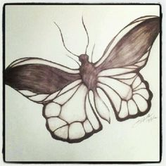 100 Butterflies in 100 Days Day 1 Medium: Color Pencil