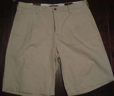 Black Brown 1826 NEW Classic Fit Pleated Front Walking Shorts Men's 34 Beige NWT #BlackBrown1826 #Walkingshorts