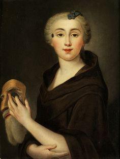 Portrait einer Dame mit Maske