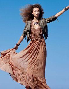 Mona Johannesson for Free People December 2011 Catalog is Boho-Chic #hair trendhunter.com
