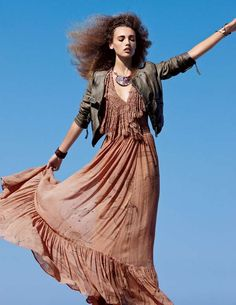 Mona Johannesson for Free People December 2011 Catalog is Boho-Chic