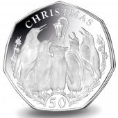 This silver piedfort double the weight of a normal fifty pence has been released by Pobjoy Mint for the Falkland Islands fifty pence penguin series 50p Coin, Commemorative Coins, African Animals, Coin Collecting, Penguins, Personalized Items, Sterling Silver, Islands, United Kingdom