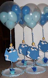 MuyAmeno.com: Fiestas Infantiles, Decoración Cenicienta, Centros de Mesa