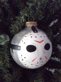 Jason Voorhees Hand Painted Holiday Ornament Set by GingerPots, $18.00