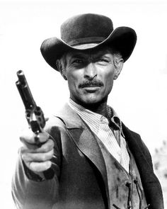 """Lee Van Cleef: """"Being born with a pair of beady eyes was the best thing that ever happened to me. Lee Van Cleef, Hollywood Stars, Classic Hollywood, Old Hollywood, Old Movies, Great Movies, Vintage Movies, Style Geek, Cowboy Films"""