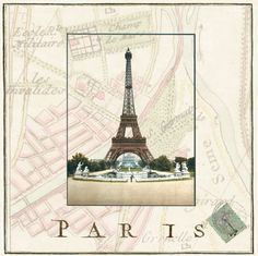Eiffel tower, double card with envelope (Modigliani paper)