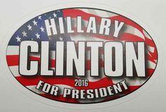 HIllary Clinton for PResident 2016 bumper sticker