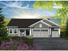 ePlans Craftsman House Plan – Affordable But Spacious Craftsman Ranch – 1501 sq 3 Bedrooms from ePlans – House Plan Code House Plans One Story, Ranch House Plans, Best House Plans, Country House Plans, Small House Plans, Story House, Craftsman Floor Plans, Craftsman Ranch, Craftsman Homes