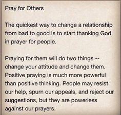 Pray for others #PrayerWorks