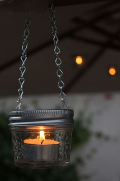 EASY DIY mason jar candle lanterns-   Perfect for RV and camping
