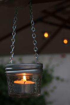 EASY DIY mason jar candle lanterns-   Perfect for RV and camping