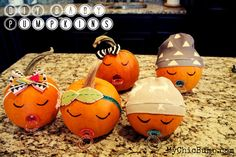 """If you're looking for a fun and creative way to announce your baby news, a baby shower gift or just a fun Fall gift for a friend, check out these adorable, easy-to-make """"Baby Pumpkins!""""  » mychicbump.com #baby #falldecor #diy"""